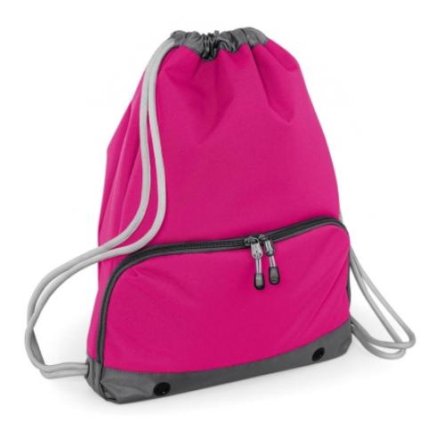 ca761de44 Bolsa mochila cremallera fuxia - Bolsas deporte personalizadas Pronens ...