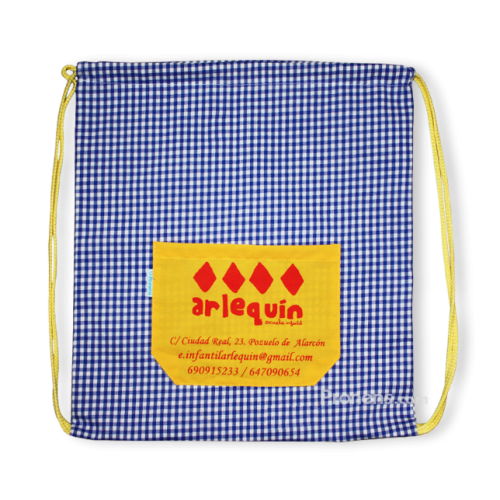 Bolsa mochila con asas para escuelas infantiles - Mochilas escuela infantil Pronens
