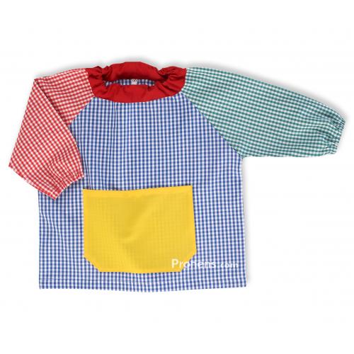 Batas babis cuello goma para la guardería y escuela infantil