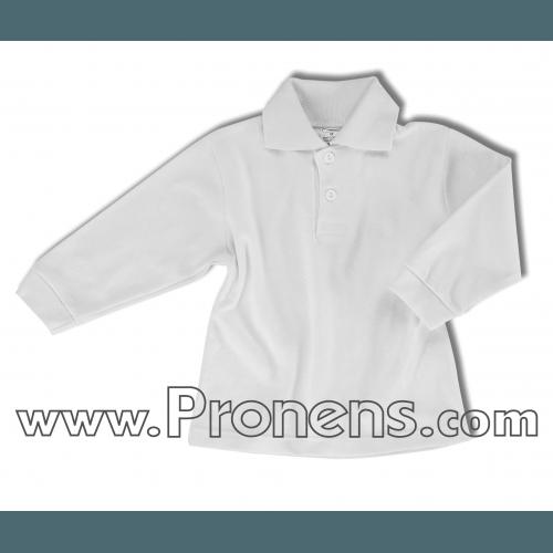 polo manga larga interlok - uniformes guarderias