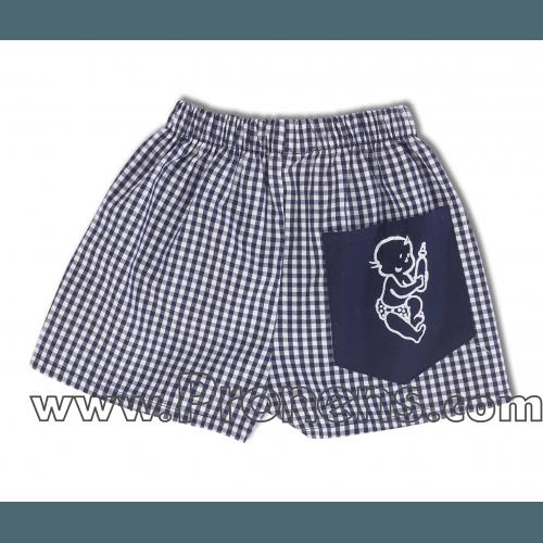 pantalon cuadro marino guardería - uniformes escolares guarderías