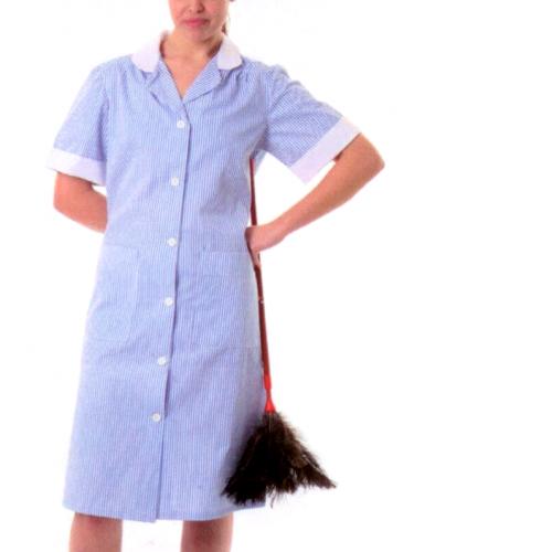 bata asistenta limpieza para colegios y escuelas
