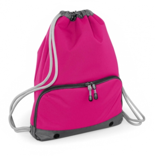 Bolsa mochila cremallera fuxia - Bolsas deporte personalizadas Pronens