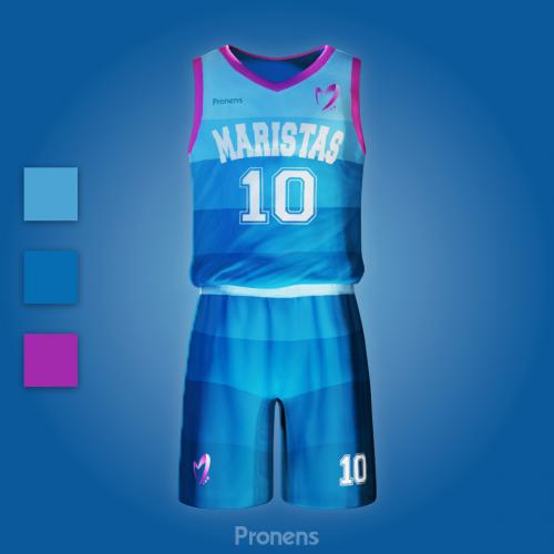 Fabricante de equipaciones escolares deportivas de baloncesto - Equipaciones deportivas Pronens Minmor