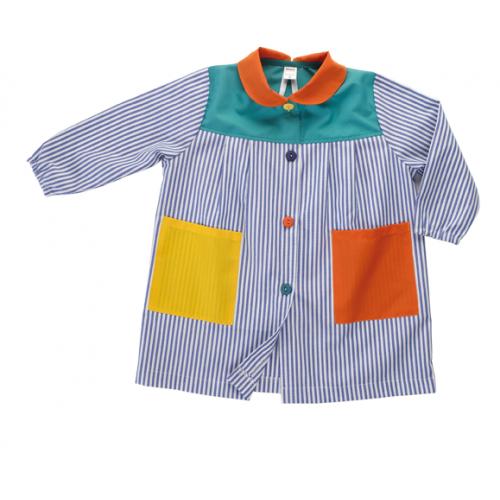 Batas babis escolares con botones para la guardería y escuela infantil