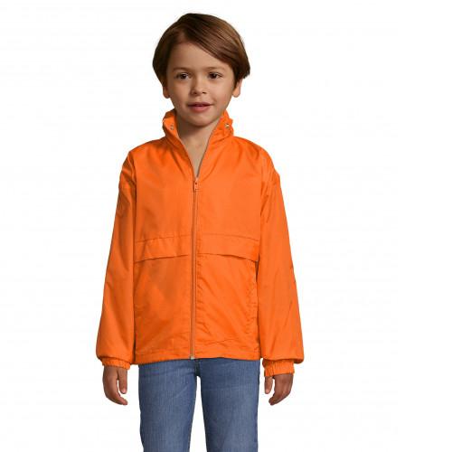 Cortavientos chubasquero impermeable personalizado para colegios y empresas - naranja