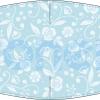 Fabricante mascarilla higiénica hidrófuga azul con flores blancas UNE0065 Ref.03.130011 - mascarillas higiénicas Pronens