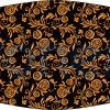Fabricante mascarilla higiénica lavable negra rosas doradas Ref.03.130047 - Mascarillas higiénicas Pronens UNE0065