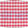 Fabricante mascarilla higiénica lavable vichí cuadro rojo Ref.03.130053 - Mascarillas higiénicas Pronens UNE0065