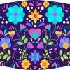 Fabricante mascarilla higiénica lavable negra Flores colores Ref.03.130077 - Mascarillas higiénicas Pronens UNE0065