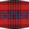 Mascarilla higiénica lavable uniforme escolar tartán rojo Ref.03.130103 - Mascarillas higiénicas Pronens UNE0065