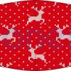 Mascarilla higiénica lavable rojo jersey navideño Ref.03.130111 - Mascarillas higiénicas lavables Pronens UNE0065