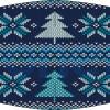 Mascarilla higiénica lavable jersey navideño azul y blanca Ref.03.130115 - Mascarillas higiénicas lavables Pronens UNE0065