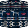 Mascarilla higiénica lavable jersey invierno renos Ref.03.130118 - Mascarillas higiénicas lavables Pronens UNE0065