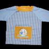 Batas babis escuela infantil con mangas de color azul celeste liso - batas babis guardería Pronens