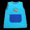 Bata babi escolar azul turquesa sin mangas - babis sin mangas Pronens