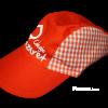 Fabricante de gorras escolares infantiles de tela personalizadas para colegios, escuelas infantiles y guarderías - Gorras escolares vichí naranja  Pronens