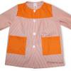 Batas escolares personalizadas para colegios canesú naranja