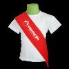 Banda graduación infantil roja - Bandas graduación infantil Pronens