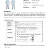 ficha técnica Buzomono de protección desechable con capucha EN 13034 Tipo 6 Riesgos químicos. EN 14126 Tipo 6-B Riesgos biológicos