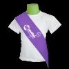 Banda graduación lila para escuela infantil - Banda graduación infantil Pronens