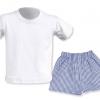 Conjunto verano blanco escuela infantil - Uniformes escuela infantil Pronens