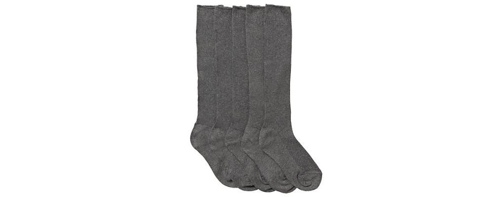 calcetín escolar gris alto - Uniformes escolares Pronens