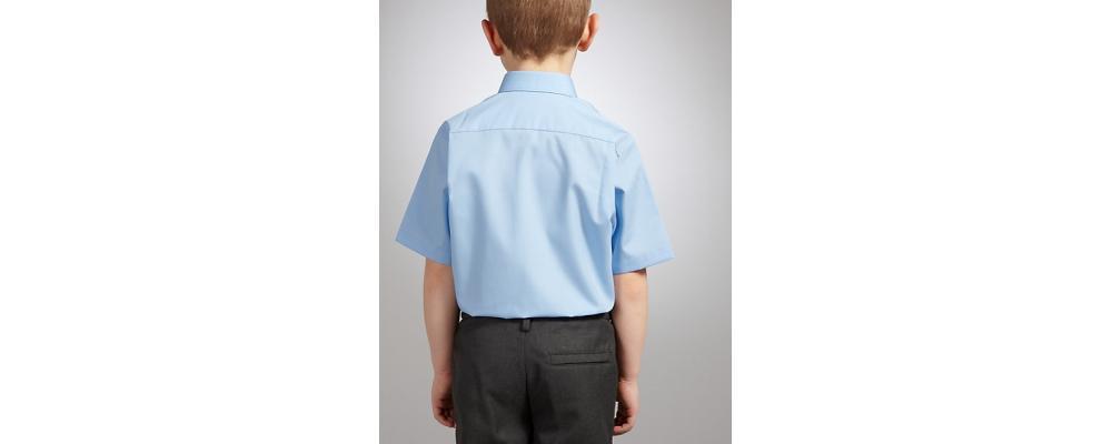 camisa corta colegial  azul - Uniformes escolares Pronens