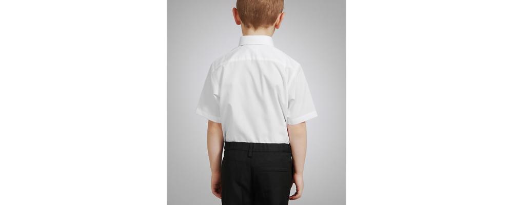 camisa corta escolar  - Uniformes escolares Pronens