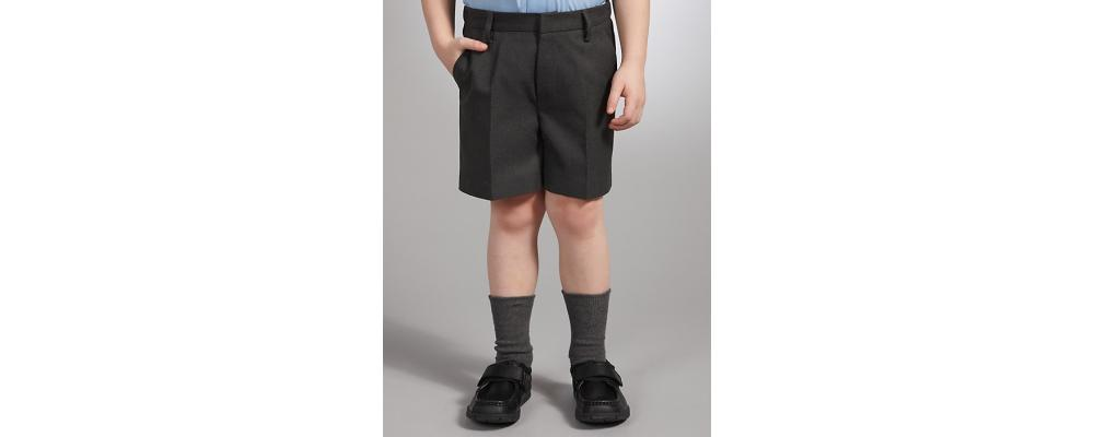 Pantalon corto gris colegial - Uniformes escolares Pronens