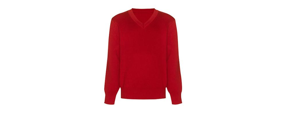 Jersey escolar rojo - uniformes escolares Pronens