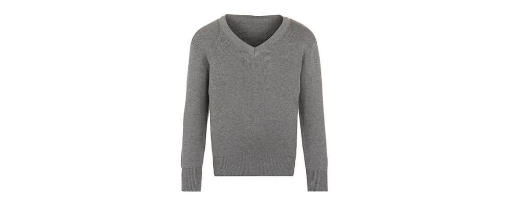Jersey escolar gris - uniformes escolares Pronens