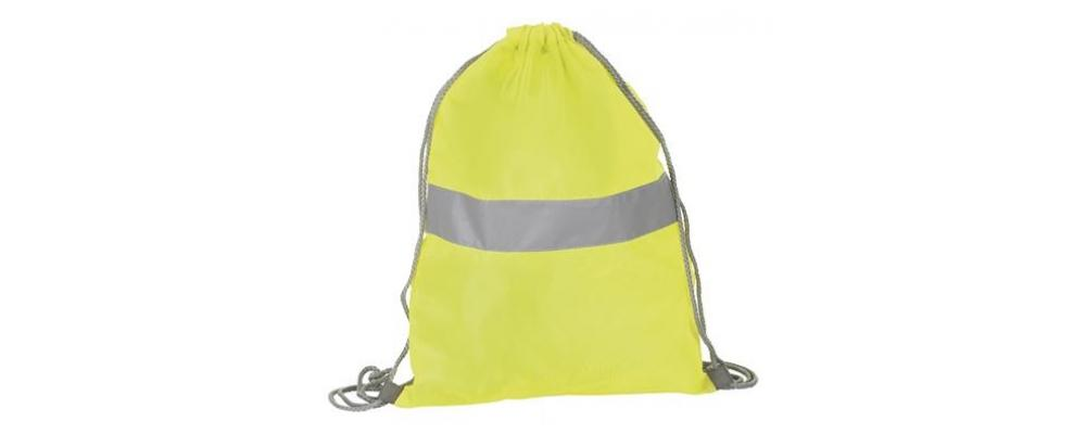 mochila poliester reflectante amarilla - mochilas escolares Pronens