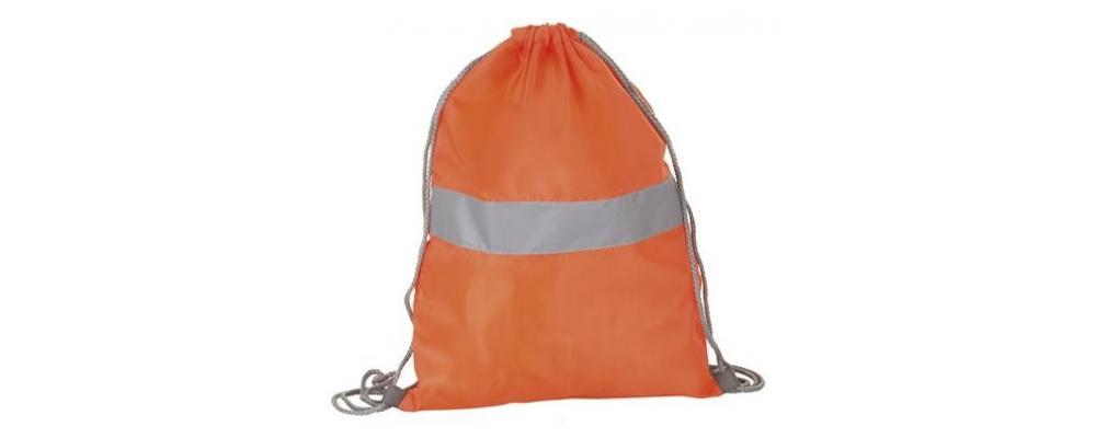 mochila poliester reflectante naranja - mochilas escolares Pronens