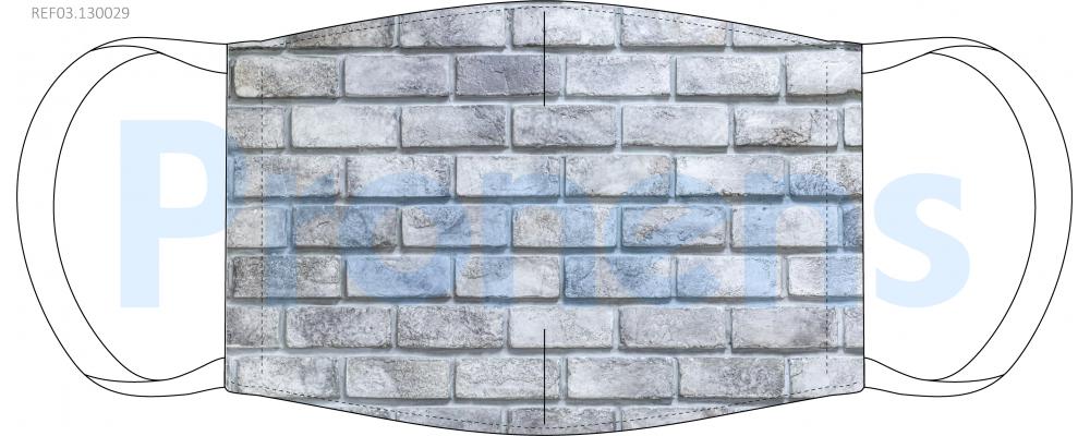 Fabricante mascarilla higiénica reutilizable gris muro Ref.03.130029 - Mascarillas higiénicas Pronens UNE0065