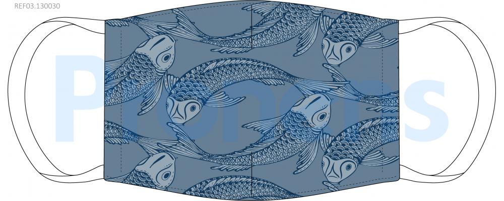 Fabricante mascarilla higiénica reutilizable azul carpas Ref.03.130030 - Mascarillas higiénicas Pronens UNE0065