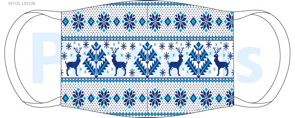 Mascarilla higiénica lavable blanca jersey alpino Ref.03.130108 - Mascarillas higiénicas lavables Pronens UNE0065