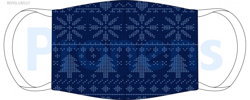 Mascarilla higiénica lavable Avetos Navidad Ref.03.130117 - Mascarillas higiénicas lavables Pronens UNE0065