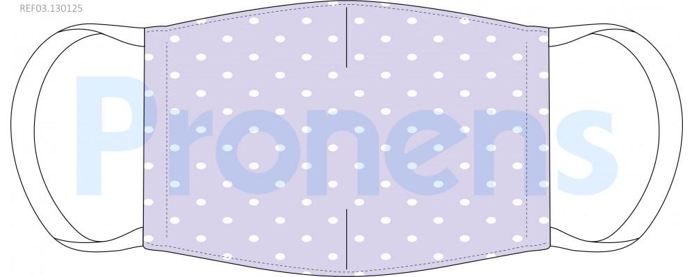 Mascarilla higiénica tela homologada lila Ref.03.130125 COVID19