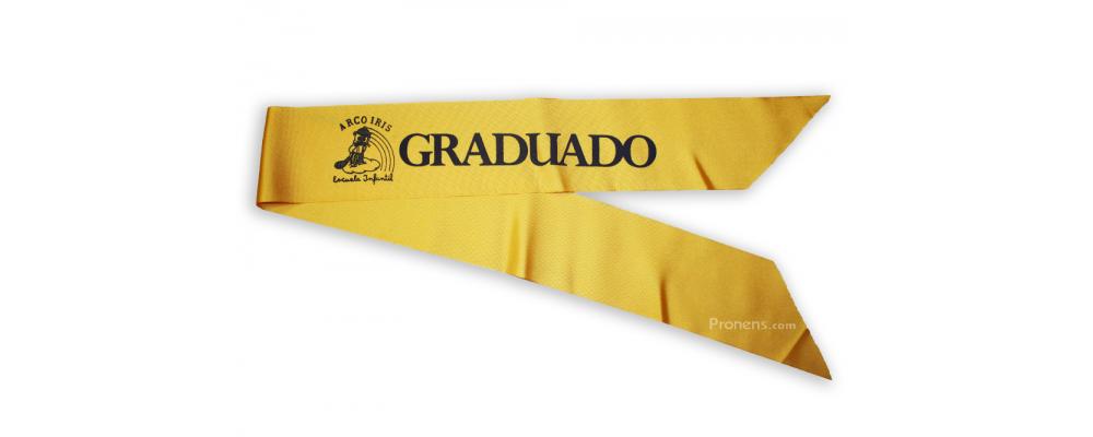 Banda graduación para guarderías y escuela infantil - Banda graduación Pronens