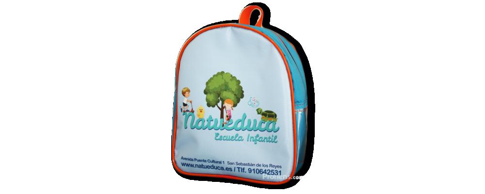 Fabricante mochilas escolares originales para guardería con logo a colores - Mochila escuela infantil Pronens