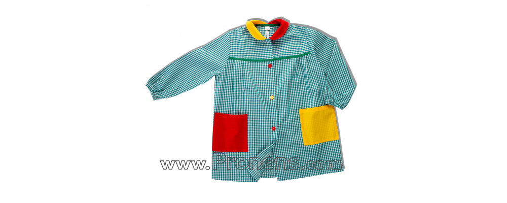 batas babys escolares botones  - uniformes escolares