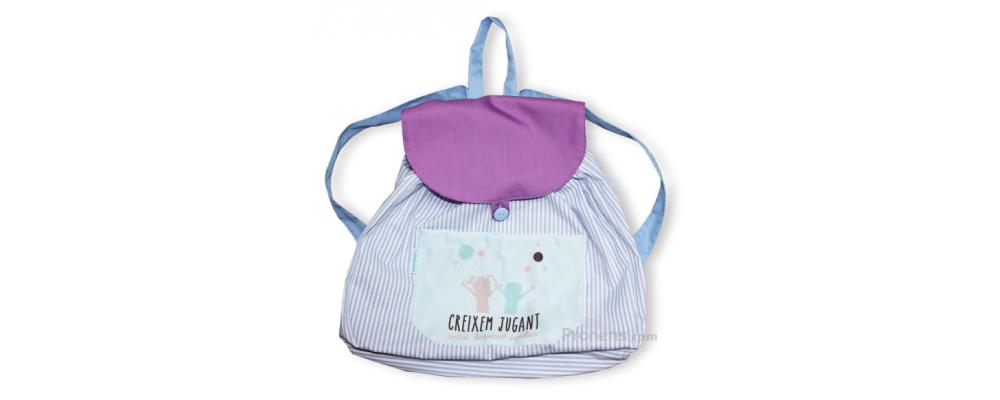 Mochila escolar personalizada de tela sin acolchar - Mochila escuela infantil Pronens