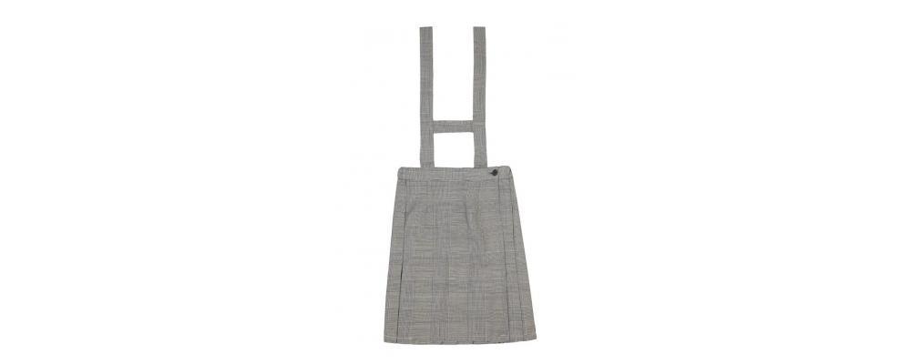 Fabricante de falda escolar tirantes gris - Uniformes escolares Pronens