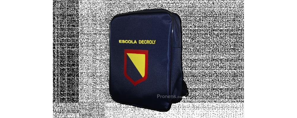 Fabricante mochila escolar personalizada colegio Decroly - Mochilas escolares Barcelona Pronens