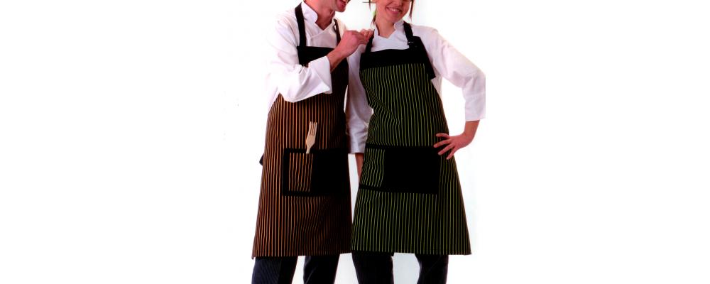 Delantal cocina de a rayas