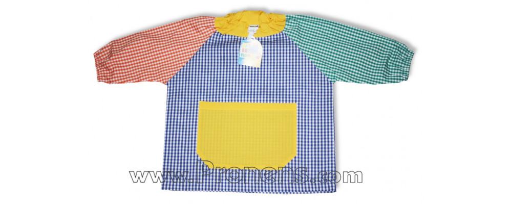 Batas escolares cuello elástico personalizadas para colegios Nenuco