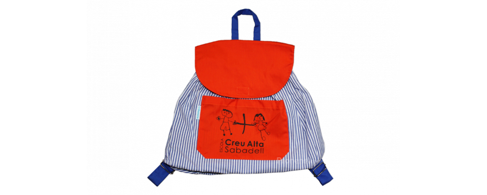 Mochila escolar infantil de tela colegio Creu Alta - Mochilas infantiles escolares Pronens