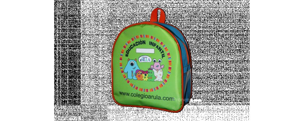 Fabricante mochila escolar personalizada colegio Arula - Mochilas escolares Madrid Pronens
