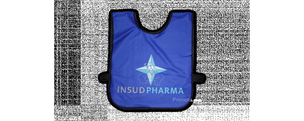 Fabricante de petos identificativos personalizados Insudpharma -  PRONENS, Petos personalizados escolares y empresas